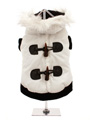 Luxury White Toggle Quilted Ski Parka