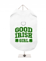 ''St. Patrick: Good Irish Girl'' Harness-Lined Dog T-Shirt