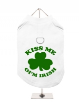 ''St. Patrick: Kiss Me Oim Irish'' Harness-Lined Dog T-Shirt